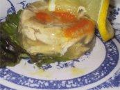 Galantine de poulet en gelée