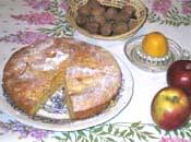 Gâteau aux pommes et noix